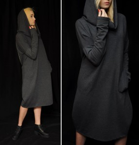 Sukienka z kominem Why Not oversize Dress